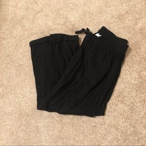 Old Navy Women's Small Capri Linen Pants Black